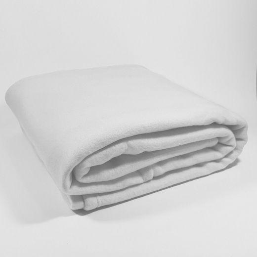 Manta Polar lisa blanca de 350 gramos
