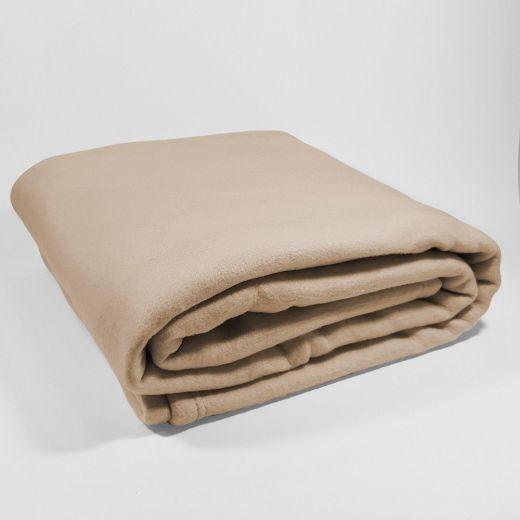 Manta Polar lisa beige hostelería de 350 gramos