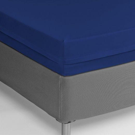Funda colchón ignifuga Poliéster/PU azulina