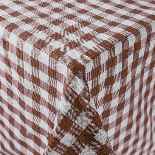Mantel hostelería cuadros Vichy marrón