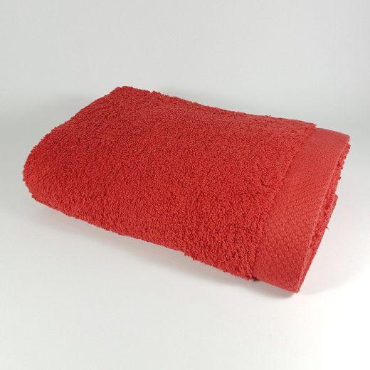 Toalla de lavabo de color rojo 50x100 cm 550 gramos