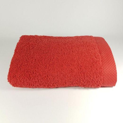 Toalla de lavabo roja 50x100 cm 550 gramos
