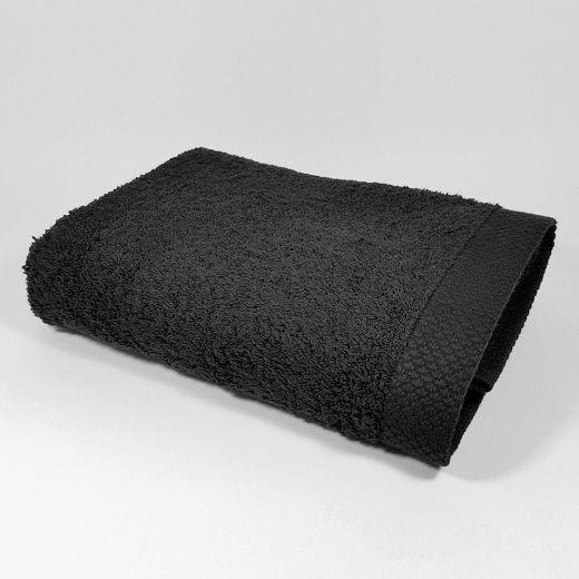 Toalla de manos de color negro 50x100 cm 550 gramos