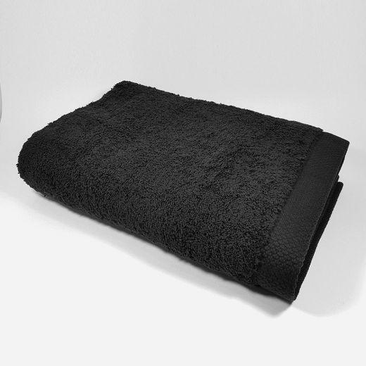 Toalla de ducha de color negro 70x140 cm 550 gramos