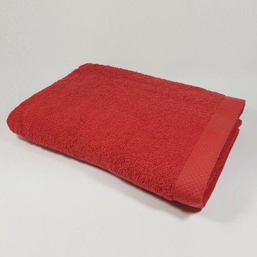Toalla de baño color rojo 100x150 cm 550 gramos