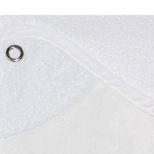 Babero para adulto blanco Rizo/PVC con corchetes detalle 1