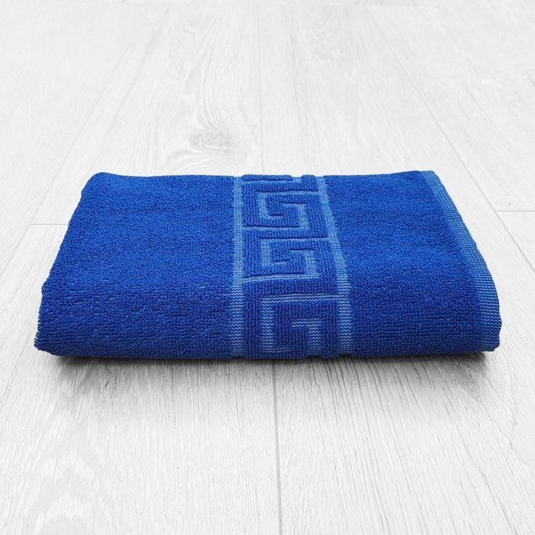 Toalla lavabo Greca azul 50x100 cm 450 gramos