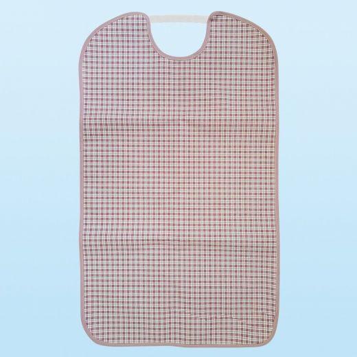 Babero para adulto reutilizable impermeable Tela/PVC con goma elástica