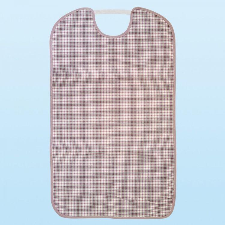Babero para adulto Oxford marrón Tela/PVC 50x85 con goma elástica