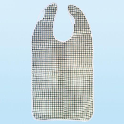 Babero para adulto reutilizable impermeable Tela/PVC con cierre de ojal