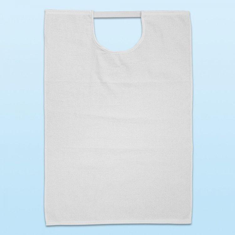Babero para adulto reutilizable rizo 100% algodón con goma elástica