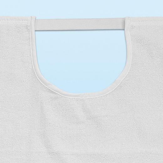 Babero para adulto lavable rizo 100% algodón con goma elástica