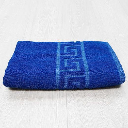 Toalla ducha Greca azul 70x140 cm 450 gramos