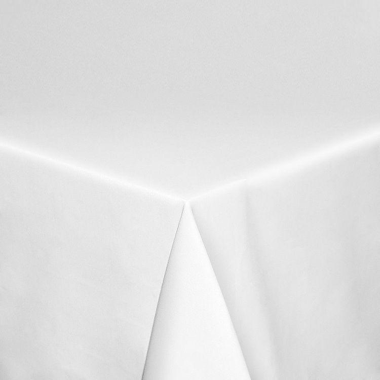 Mantel para restaurante de satén blanco Poliéster-Algodón