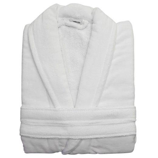 Albornoz hotel Velour blanco Algodón 420 gramos