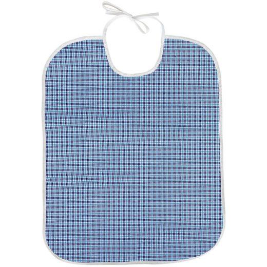 Babero para adulto Oxford azul Tela/PVC 45x75 con lazo (Pack 5)