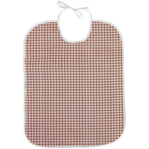 Babero para adulto Tela/PVC Oxford marrón 45x75 con lazo (Pack 50)