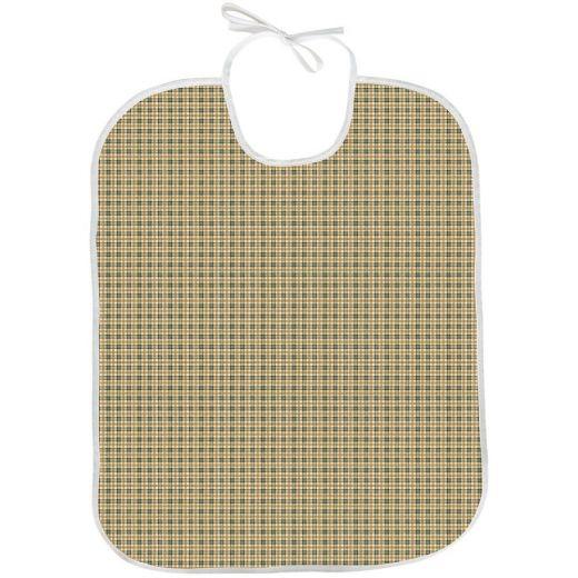 Babero para adulto Tela/PVC Oxford verde 45x75 con lazo (Pack 50)