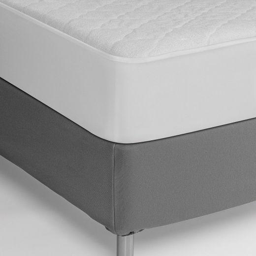 Cubrecolchón protector acolchado impermeable hostelería Rizo/PVC