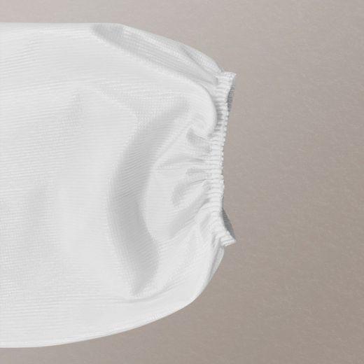 Bata protectora impermeable de un solo uso detalle manga